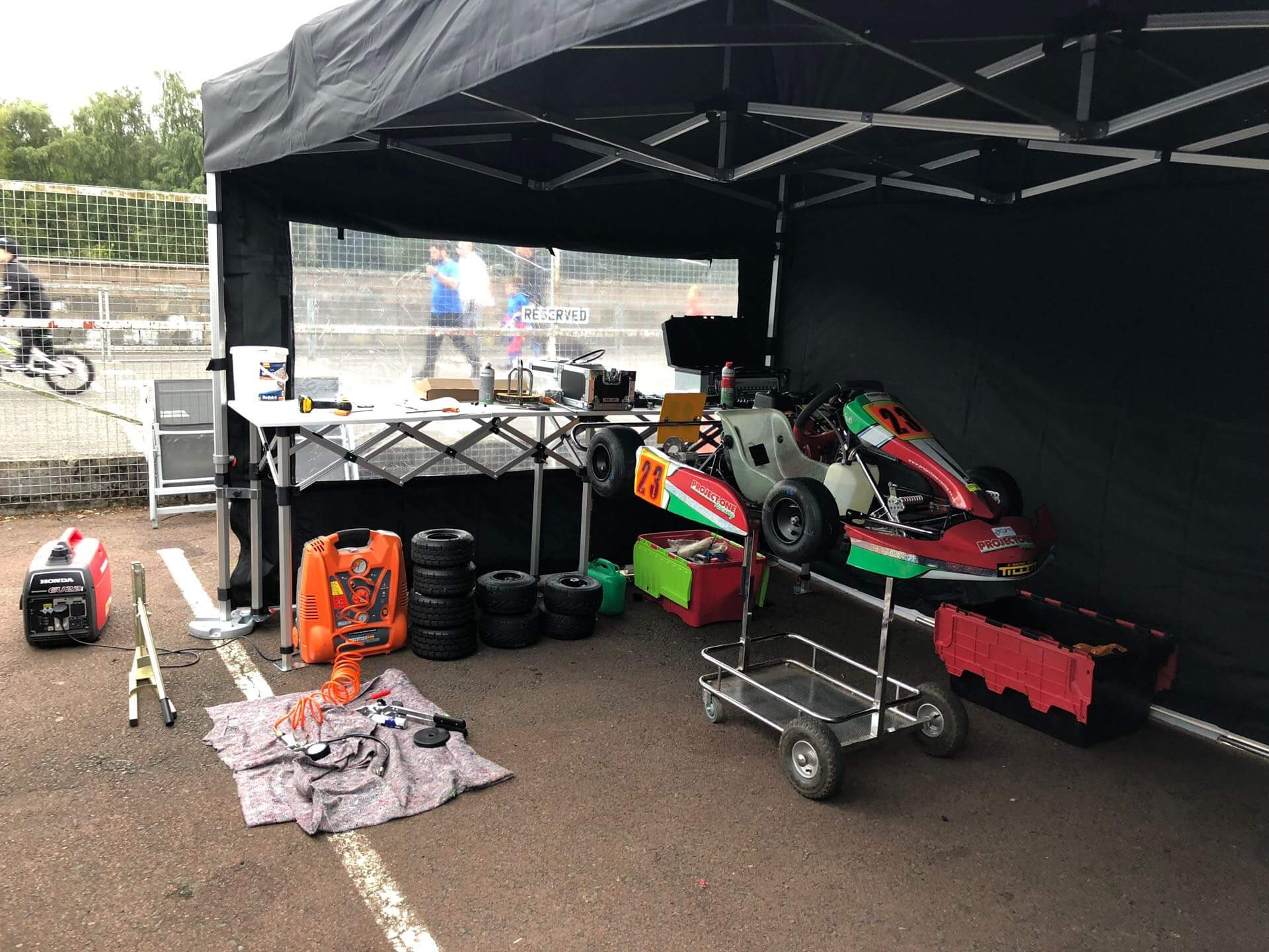 Honda Cadet kart with Project One chassis